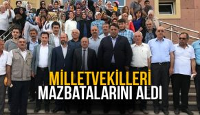 AK PARTİLİ VEKİLLER MAZBATALARINI ALDI