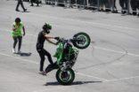 MOTORSİKLET GÖSTERİSİ NEFESLERİ KESTİ