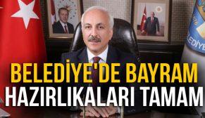 BELEDİYE'DE BAYRAM HAZIRLIKALARI TAMAM