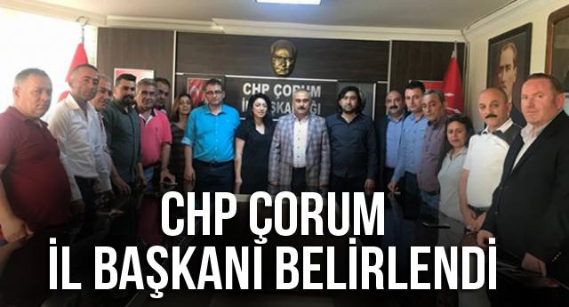 CHP ÇORUM İL BAŞKANINI BELİRLEDİ