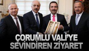 ÇORUMLU VALİ'YE SEVİNDİREN ZİYARET
