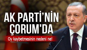 AK PARTİ ÇORUM'DA NEDEN BU KADAR OY KAYBETTİ