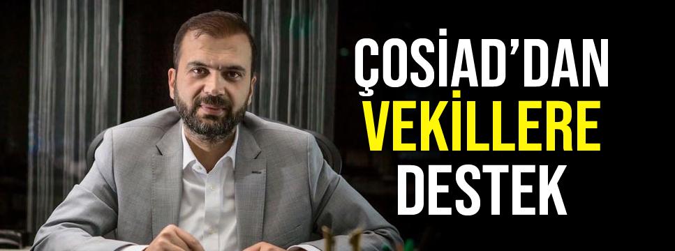 ŞAMLI'DAN VEKİLLERE DESTEK