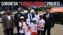 """ÇORUM'DA """"KIRMIZI DÜDÜK"""" PROJESİ"""