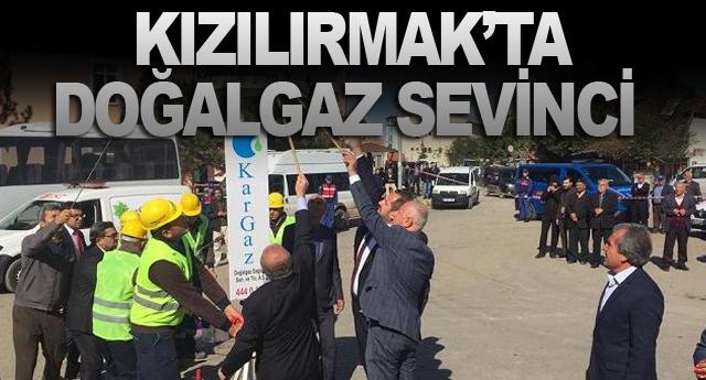 KARGAZ İLE KIZILIRMAK'TA DOĞALGAZ SEVİNCİ