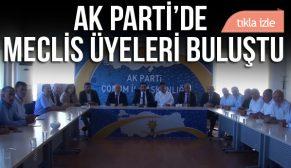 AK PARTİ'DE MECLİS ÜYELERİ BULUŞTU