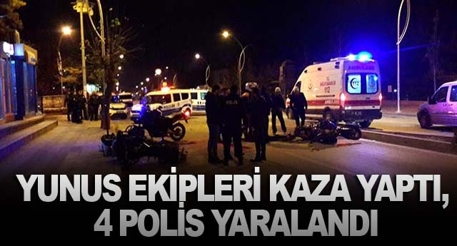 YUNUS EKİPLERİ KAZA YAPTI, 4 POLİS YARALANDI